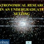 Astronomical Research in an Undergraduate Setting